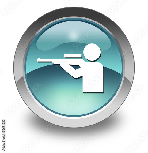 "Light Blue Glossy Pictogram ""Hunting"""