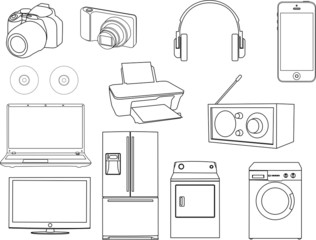 Collection of home appliance vector