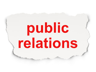 Marketing concept: Public Relations on Paper background