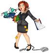 Sekretärin, Stress, Burnout, Angestellte, Büro