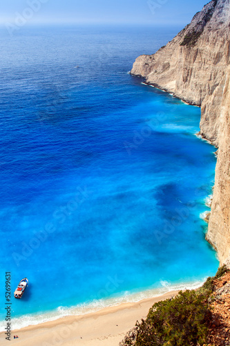 view of Navagio beach