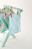 Closeup of pastel color laundry