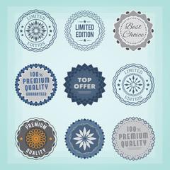 Round badges. EPS10.