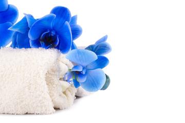 toalla con orquídea