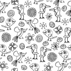 Texture with birds 1