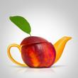 Concept nectarine teapot