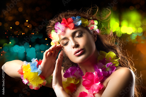 Luau Party Girl. Exotic Hula Dancer
