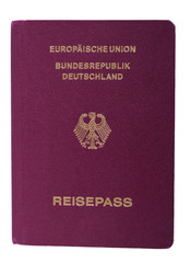 Isolated German Passport