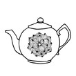 Tea pot with floral decoration