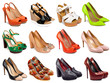canvas print picture - Female footwear collection-4