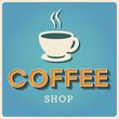 Coffee shop Retro poster