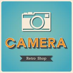 Camera  shop Retro poster