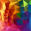Abstract triangles colorful background