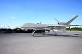 Predator drone on runway poster