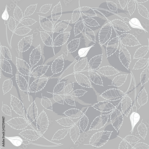 Seamless  pattern with rosebuds