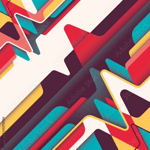 Colorful graphic with abstraction.