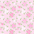 Seamless patterns with pink and white roses. Vector illustration