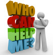 Who Can Help Me Thinker Man Needing Customer Support