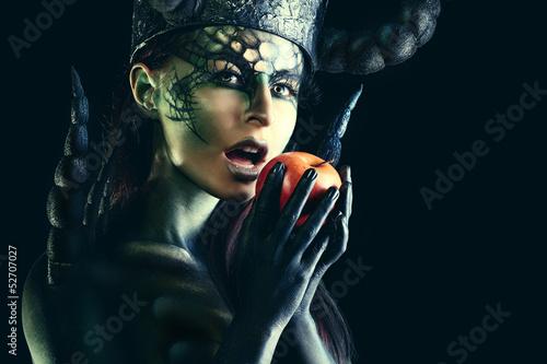 Fototapeten,fantasy,mädchen,äpfel,dunkelheit