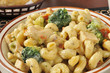 Chicken with broccoli with pasta
