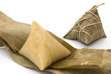 two Chinese ZongZi for Dragon Boat Festival, DuanWu festival