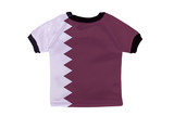 Small shirt with Qatar flag isolated on white background
