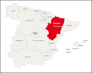 Autonome Region Aragon, Spanien