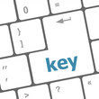 key word on computer key or button