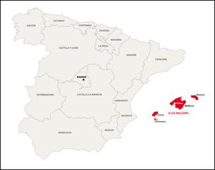 Autonome Region Balearische Inseln, Spanien
