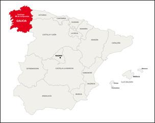Autonome Region Galicien, Spanien
