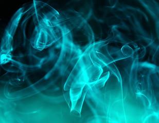 Background smoke.