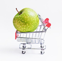 Shopping with apple