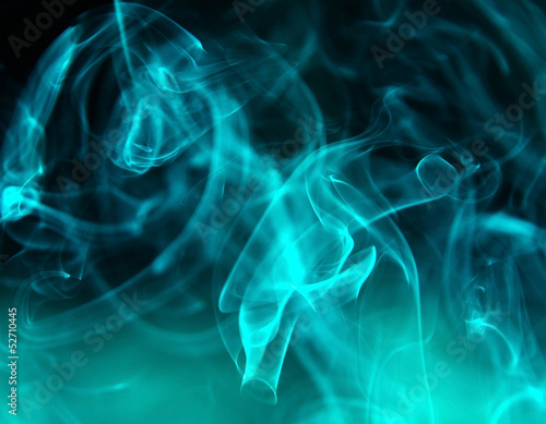 Background smoke.