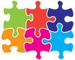 Six jigsaw pieces