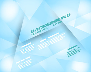 turquoise infographic background crystalline template