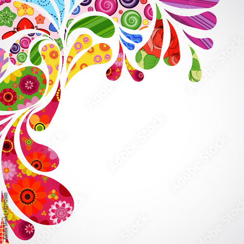 Floral and ornamental item background.