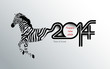 Creative Calligraphy 2014, Zebra design, Year of horse design