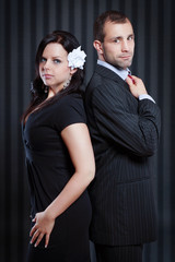 Geschäftsmann mit Frau