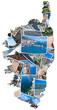 carte de photos souvenirs de Corse