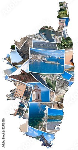 carte de photos souvenirs de Corse