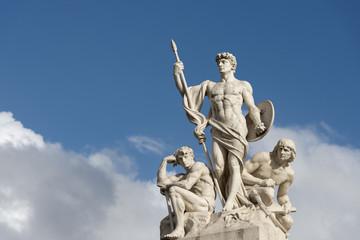 Rome unknow soldier roman statue