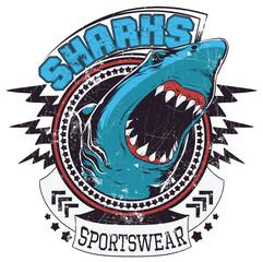 Sharks Sportswear © Tshirt-Factory.com