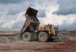 Fototapete Eisenerz - Trucks - Industrie allgemein