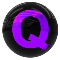 ball with the letter Q