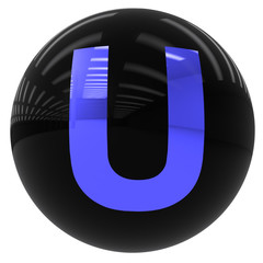 ball with the letter U