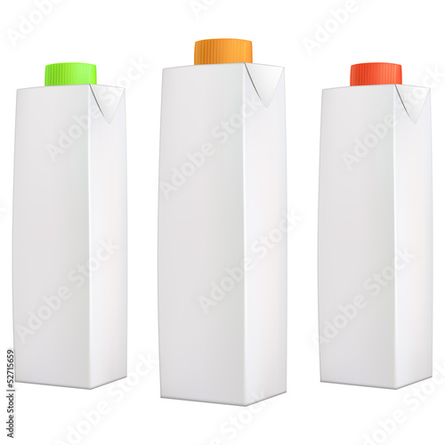 Juice packs with color lids