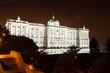 Madrid. Night view of Royal Palace