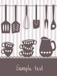 Kitchen utensils and cutlery