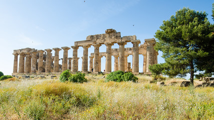 The Temple of Hera (Temple E) at Selinunte, Sicily, Italy