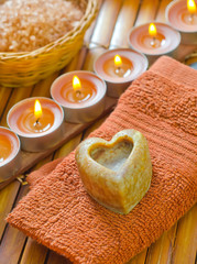 soap,salt and candles